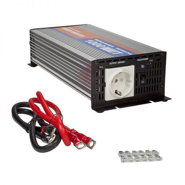 Spannungswandler / Inverter 12V auf 220 Volt, 1000 Watt