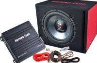 Ground Zero GZ Bass Kit 12.300 incl. Kabel 30cm Subwooferbox