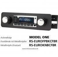 RetroSound RS-EUROFPBKCFBR - Frontblende mit Metall-Bedienknöpfen