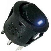 AMPIRE Schalter, 1xE/A, blaue LED, 5 Stück