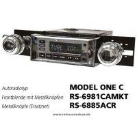 RetroSound RS-7081CAMKT - Frontblende mit Metall-Bedienknöpfen