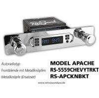 RetroSound RS-5559CHEVYTRKT - Frontblende mit Metall-Bedienknöpfen