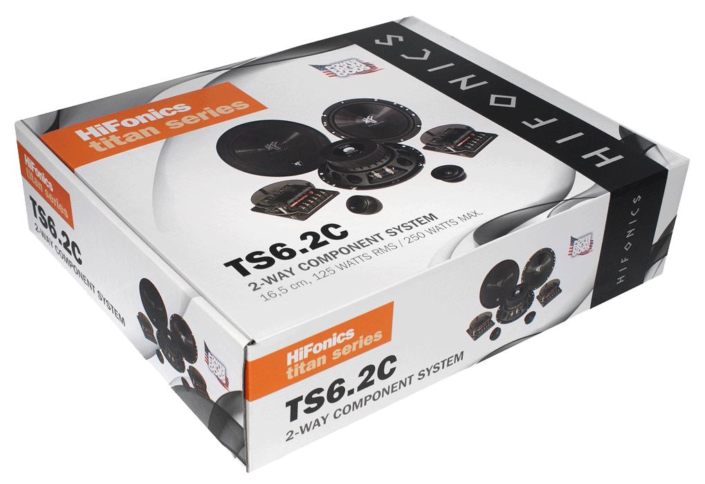 Hifonics Titan TS6 2C - 16,5 cm 2 Way Compo-System