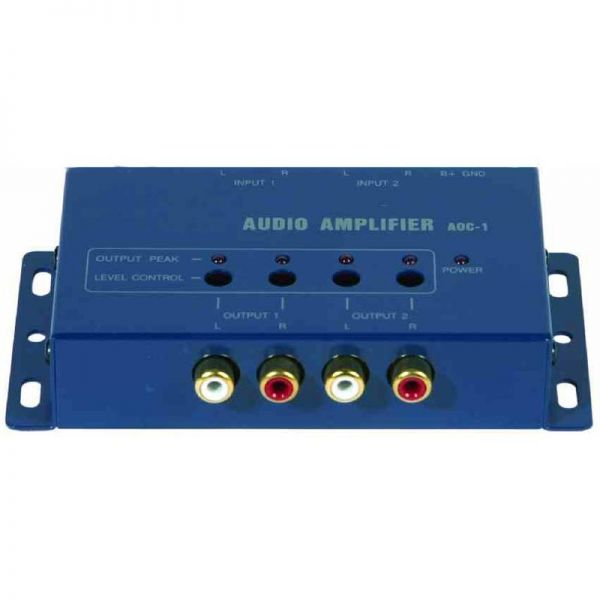 Audio signal amplifier, 4 channel RCA