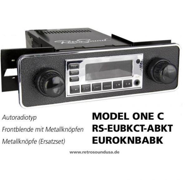 RetroSound RS-EUBKCT-ABKT - Frontblende mit Metall-Bedienknöpfen