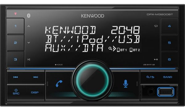Kenwood DPX-M3200BT - 2-DIN MP3-Tuner mit Bluetooth