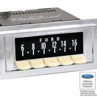 RetroSound SCP07 - bedruckte Displayschutzfolie, Ford 3er Set
