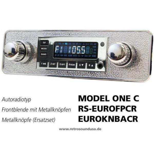 RetroSound RS-EUROFPCR - Frontblende mit Metall-Bedienknöpfen