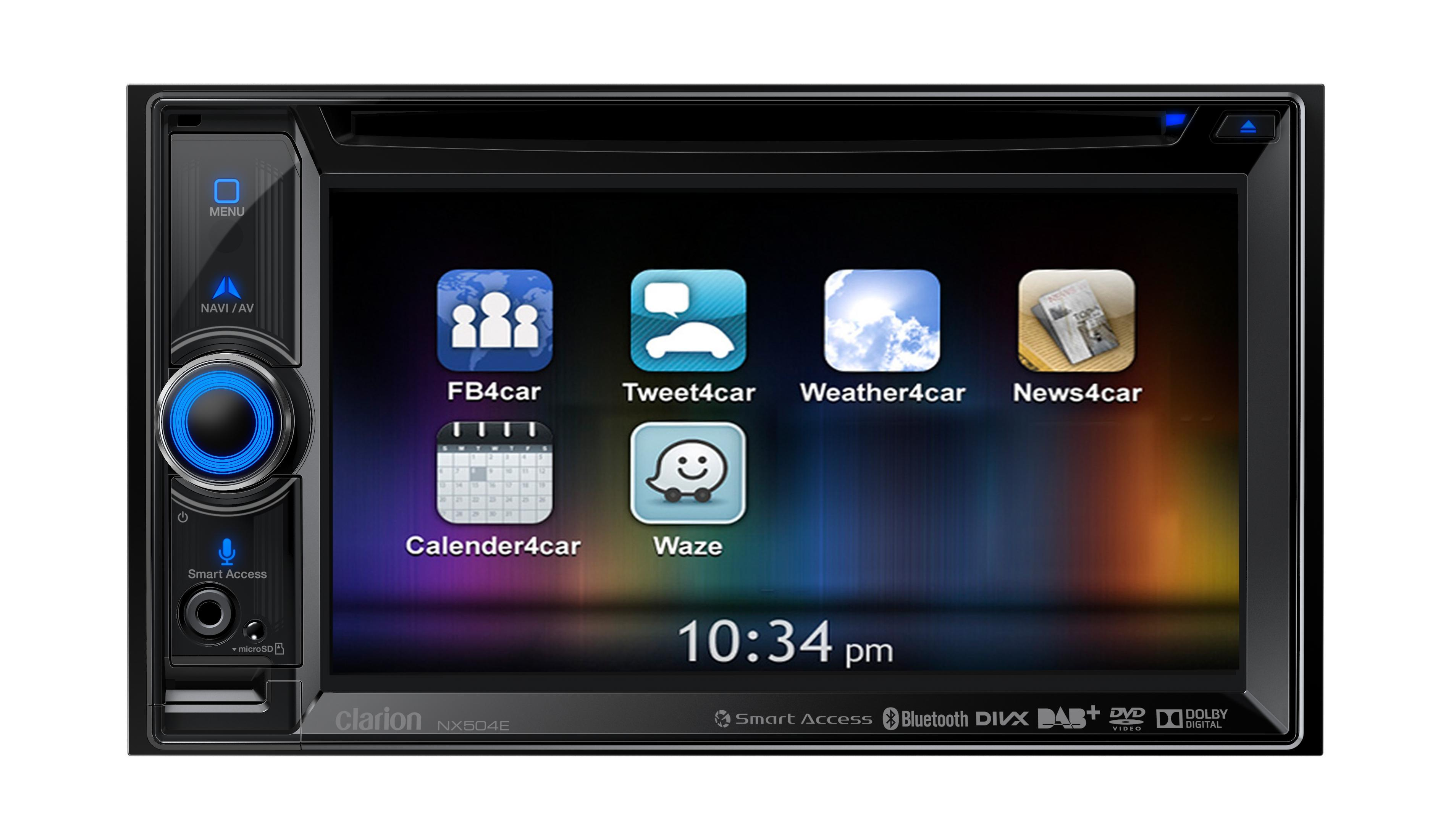 clarion nx504e dab 2 din navigation system with bkx001. Black Bedroom Furniture Sets. Home Design Ideas