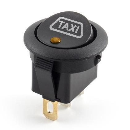Ampire SW-TAXI-12V - Taxischild-Schalter, 1xE/A, orange/gelbe LED (12 Volt DC)