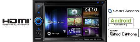 Clarion NX503E - Doppel-DIN Navigationssystem inkl. BKX001