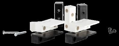 Thitronik Montageadapter schwarz für Funk-Magnetkontakte