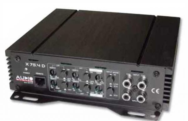Audio system X75 4D - 4 Channel Digital Amplifier with High Performance SMD