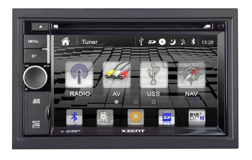 XZENT X-302BT - 2 Din Naviceiver mit Bluetooth