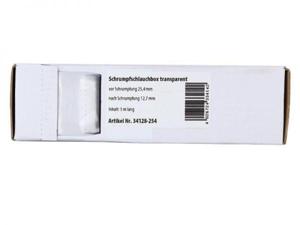Schrumpfschlauch transparent Ø 25,4 mm/ Länge: 5 m