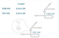Connection Audison FSM 030 - Cinch Y-Adapter - 2 Stecker - 1 Buchsen 30 cm