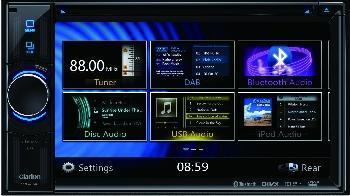 Clarion VX404E - 2 DIN Multimedia Receiver mit Mirror Link