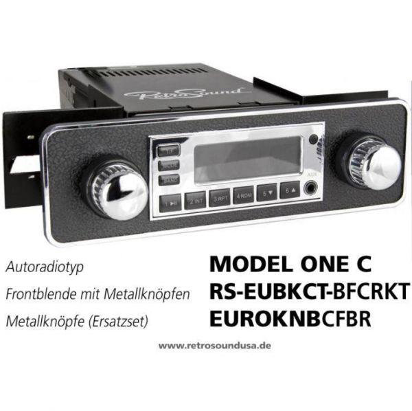 RetroSound RS-EUBKCT-BFCRKT - Frontblende mit Metall-Bedienknöpfen