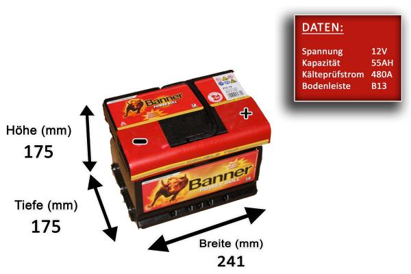 Banner Power Bull P55 19 55ah Batteries Carfeature De Car Hifi