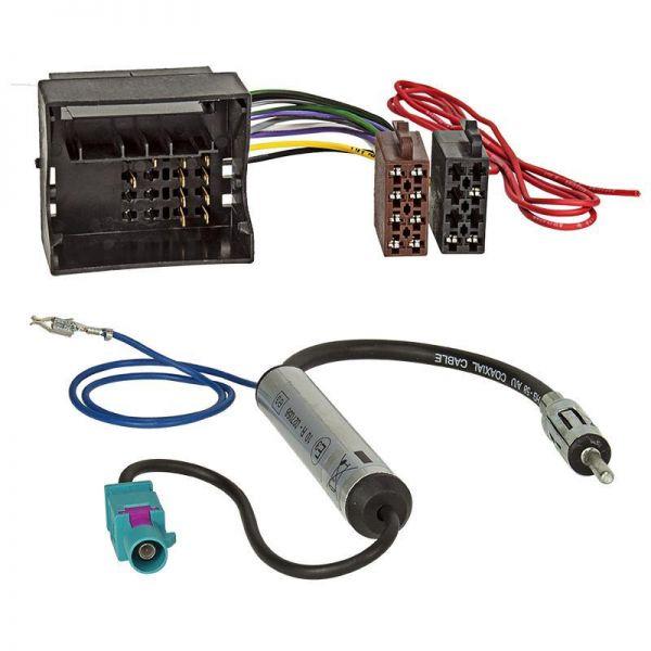 Radio Adapter Cable VW, SKODA MOST / quadlock on ISO + phantom power ...