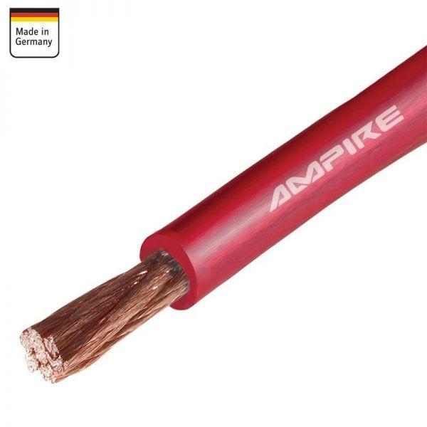 Stromkabel rot (Kupfer) 10mm² - Meterware