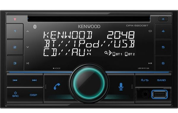 Kenwood DPX-5200BT - 2-DIN MP3-Tuner mit Bluetooth