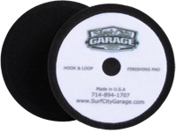 Surf City Garage Polierpad 155mm schwarz, fein