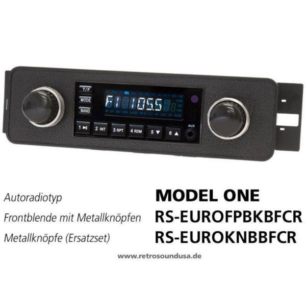 RetroSound RS-EUROFPBKBFCR - Frontblende mit Metall-Bedienknöpfen