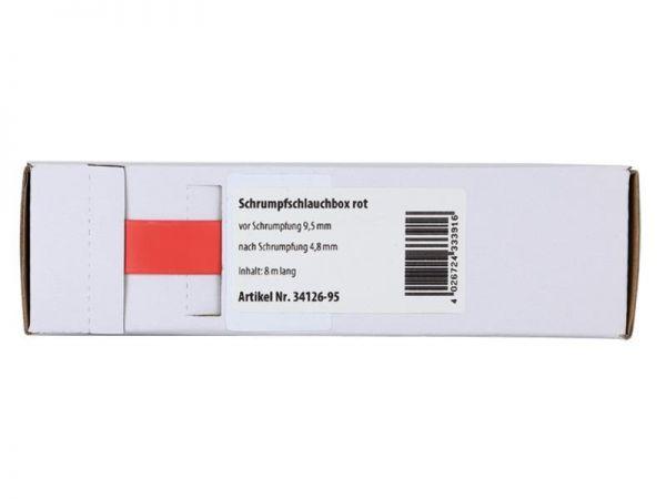 Schrumpfschlauch rot Ø 9,5 mm/ Länge: 8 m